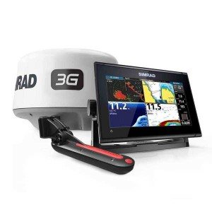 Simrad GO7 XSR com transdutor popa TotalScan + Radar 3G + Carta Navionics Local